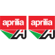 Aprilia A sticker with logo