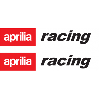 Aprilia racing sticker - white