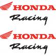 Honda Racing stickers - Wings