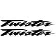 Honda Twister decals - Single colour