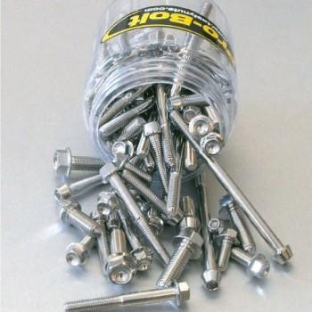 Pro Bolt stainless steel 100 piece flanged hex bolt assortment