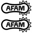 AFAM stickers - Single colour