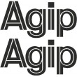 Agip decals - Single colour lettering