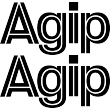 Agip Lettering - Single Colour Sticker