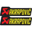 Akrapovic Lettering Yellow Decal