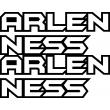 Arlen Ness Outline Split Sticker
