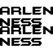 Arlen Ness Solid Split Sticker