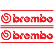 Brembo Lettering Bordered Decal