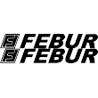 Febur Lettering Logo - Single Colour Decal