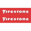 Firestone Cut Out Sticker
