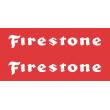 Firestone Cut Out Sticker