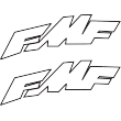 FMF Skewed Decal