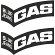 GAS Blue Jeans stickers