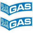 GAS Blue Jeans stickers - Border