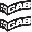 Gas Cut Out Sticker