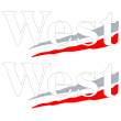 West sponsor sticker - White