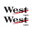 West sponsor sticker - lights