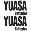 Yuasa Batteries Sticker