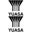 Yuasa Large Lettering - Single Colour Sticker