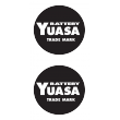Yuasa Round Sticker