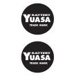 Yuasa Round Cut Out Decal