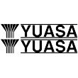 Yuasa Small Lettering - Single Colour Sticker